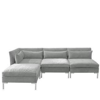 2018 4pc Alexis Sectional With Silver Metal Y Legs – Skyline With Regard To 4pc Alexis Sectional Sofas With Silver Metal Y Legs (View 1 of 10)