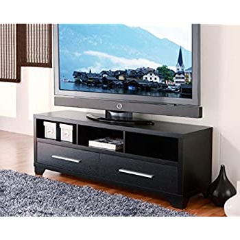 2018 Amazon: Modern 60 Inch Flat Screen Tv Stand In Black Throughout Modern Black Tv Stands On Wheels (View 10 of 10)