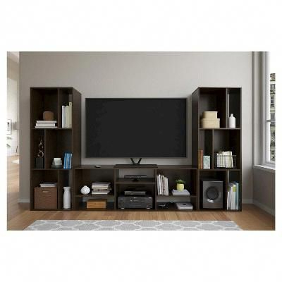 2018 Logan Bookcase/tv Stand For Tvs Up To 60 – Espresso – Room With Regard To Logan Tv Stands (View 3 of 10)
