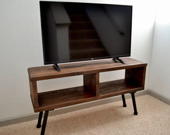 2018 Urban Rustic Tv Stands Pertaining To Industrial Tv Stand Media Console Bookshelf Rustic Tv (View 9 of 10)