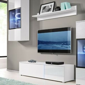2018 White Gloss Tv Media Unit With Led Light (View 6 of 10)