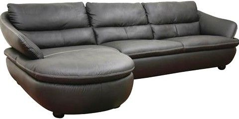 2pc Connel Modern Chaise Sectional Sofas Black With Widely Used Wholesale Interiors 1252 M9812 Sofa/chaise Bailey Black (View 10 of 10)