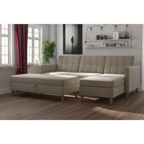 3pc Hartford Storage Sectional Futon Sofas And Hartford Storage Ottoman Tan Regarding Well Known 31 Best Apartment! Images On Pinterest (View 4 of 6)