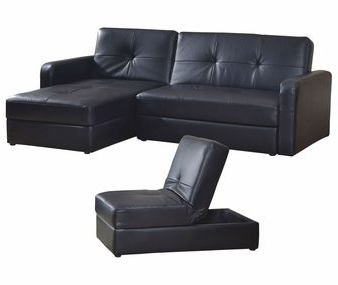 3pc Hartford Storage Sectional Futon Sofas And Hartford Storage Ottoman Tan With Most Popular 3 Piece Sofa Bed Set With Storage In Black $1, (View 3 of 6)