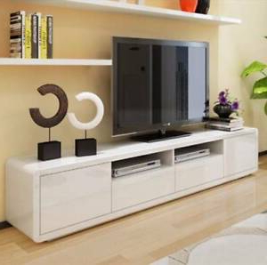 """47"""" Tv Stands High Gloss Tv Cabinet With 2 Drawers Inside Most Popular  (View 8 of 10)"""