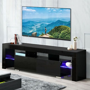 """47"""" Tv Stands High Gloss Tv Cabinet With 2 Drawers Regarding Current 63"""" High Gloss Tv Stand Unit Cabinet With Led Shelves  (View 1 of 10)"""