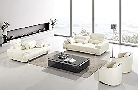 4pc Beckett Contemporary Sectional Sofas And Ottoman Sets Intended For Fashionable Amazon: 4pc Modern Contemporary Adjustable Leather (View 3 of 10)