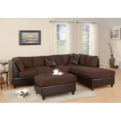 4pc Crowningshield Contemporary Chaise Sectional Sofas With Most Recently Released Andover Mills Corporate Reversible Chaise Sectional (View 5 of 10)