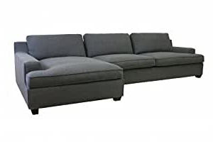 4pc Crowningshield Contemporary Chaise Sectional Sofas With Recent Amazon: Baxton Studio Kaspar Fabric Modern Sectional (View 2 of 10)