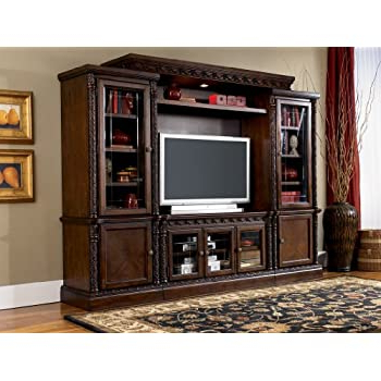 57'' Tv Stands With Led Lights Modern Entertainment Center For Preferred Amazon: Ashley Furniture North Shore Entertainment (View 5 of 10)