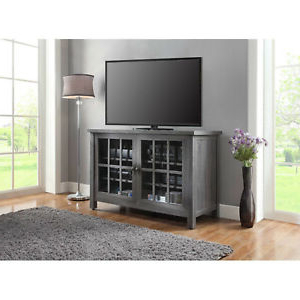 57'' Tv Stands With Led Lights Modern Entertainment Center Pertaining To Famous Tall Tv Stand Farmhouse Rustic Entertainment Center (View 2 of 10)