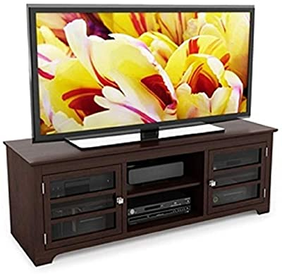 57'' Tv Stands With Open Glass Shelves Gray & Black Finsh With Most Up To Date Amazon: Sonax Sonoma 57 Inch Midnight Black Designer (View 2 of 10)