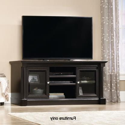 57'' Tv Stands With Open Glass Shelves Gray & Black Finsh With Regard To Well Known Tv Stands Abc Warehouse (View 5 of 10)