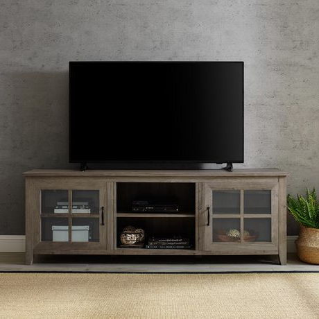 """60"""" Corner Tv Stands Washed Oak With Regard To Latest Manor Park Rustic Farmhouse Tv Stand For Tv's Up To  (View 4 of 10)"""