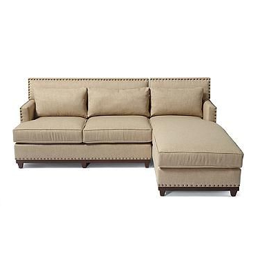 Adaline Right Facing Sectional Sofa In Sandstone For Most Recent Monet Right Facing Sectional Sofas (View 3 of 10)