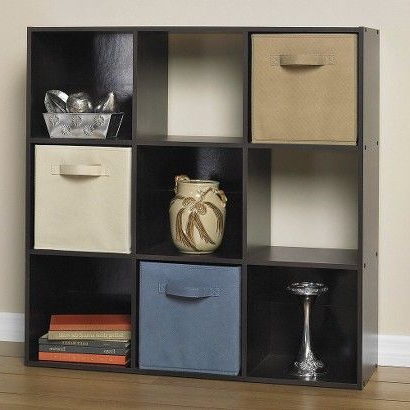 Alden Design Wooden Tv Stands With Storage Cabinet Espresso For Well Liked Target : Closetmaid Cubeicals® 9 Cube Organizer Espresso (View 9 of 10)