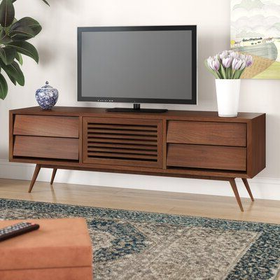 """Allmodern Chantrell Solid Wood Tv Stand For Tvs Up To 78 Intended For Most Popular Ansel Tv Stands For Tvs Up To 78"""" (View 4 of 10)"""