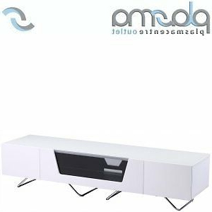 """Alphason Chromium White Tv Stand For Up To 75"""" Tvs (View 3 of 10)"""