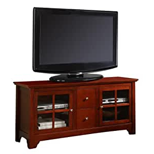 """Amazon: 52"""" Solid Hard Wood Tv Media Stand Console With Regard To Trendy Entertainment Center Tv Stands Reclaimed Barnwood (View 7 of 10)"""