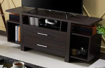 """Amazon: 55 Inch Tv Stand – Espresso Wood With Multiple In Most Up To Date Sahika Tv Stands For Tvs Up To 55"""" (View 4 of 10)"""