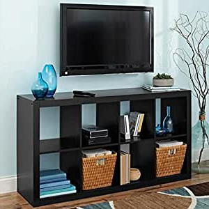 Amazon: 8 Cube Organizer Solid Black Cube Organizer With Regard To Recent Space Saving Gaming Storage Tv Stands (View 1 of 10)