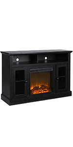 """Amazon: Ameriwood Home Lumina Fireplace Tv Stand For With Preferred Ameriwood Home Rhea Tv Stands For Tvs Up To 70"""" In Black Oak (View 9 of 10)"""