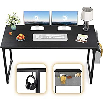 """Amazon: Brenton Studio X Cross 48""""w Desk And File Set For Fashionable Modern Mobile Rolling Tv Stands With Metal Shelf Black Finish (View 5 of 10)"""