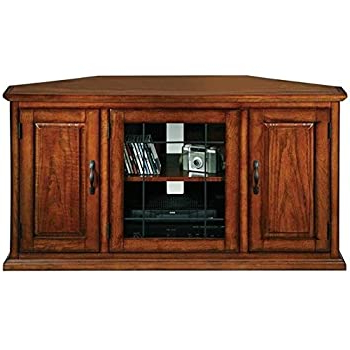 """Amazon: Crosley Furniture Alexandria 48 Inch Corner Tv For Most Current Alexandria Corner Tv Stands For Tvs Up To 48"""" Mahogany (View 3 of 10)"""