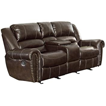"""Amazon: Homelegance Center Hill 83"""" Bonded Leather With Well Liked Bonded Leather All In One Sectional Sofas With Ottoman And 2 Pillows Brown (View 2 of 10)"""