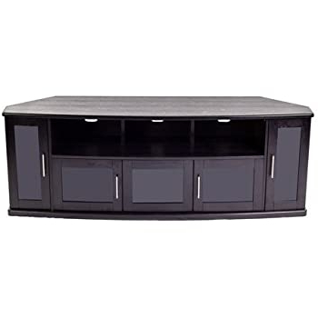 Amazon: Plateau Corner Wood Tv Stand With Black Oak With Most Recent Bromley Grey Extra Wide Tv Stands (View 3 of 10)