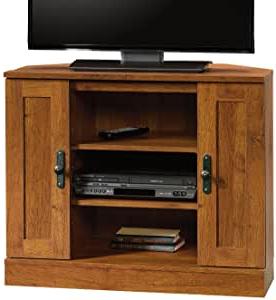 Amazon: Sauder Harvest Mill Corner Entertainment Stand For Favorite Grooved Door Corner Tv Stands (View 1 of 10)