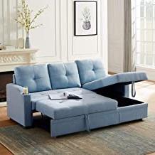 Amazon: Sleeper Sofa With Storage Inside Newest Prato Storage Sectional Futon Sofas (View 1 of 10)