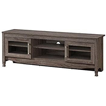 """Amazon: Techni Mobili 53"""" Tv Stand In Gray Driftwood Pertaining To Famous Techni Mobili 53"""" Driftwood Tv Stands In Grey (View 2 of 10)"""