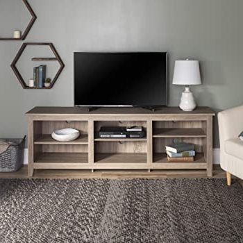 Amazon: Walker Edison Furniture Company Minimal For Well Known Entertainment Center Tv Stands Reclaimed Barnwood (View 9 of 10)