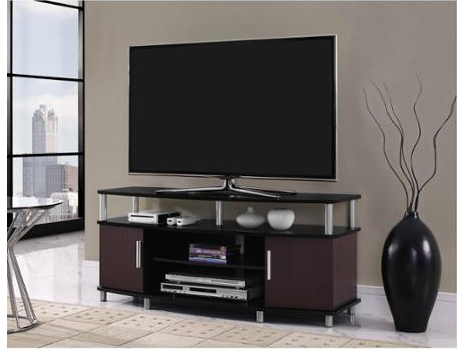 Ameriwood Home Carson Tv Stands With Multiple Finishes In Most Up To Date Carson Tv Stand, For Tvs Up To 50″, Multiple Finishes Just (View 3 of 10)