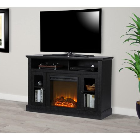 Ameriwood Home Carson Tv Stands With Multiple Finishes In Well Known Ameriwood Home Chicago Fireplace Espresso Tv Console For (View 2 of 10)