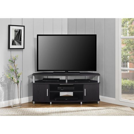 """Ameriwood Home Carson Tv Stands With Multiple Finishes Pertaining To Favorite Carson Corner Tv Stand For Tvs Up To 50"""", Black/cherry (View 6 of 10)"""
