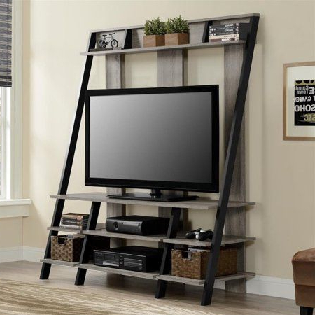 Ameriwood Home Carson Tv Stands With Multiple Finishes Within Favorite Ameriwood Home Dunnington Ladder Style Home Entertainment (View 7 of 10)
