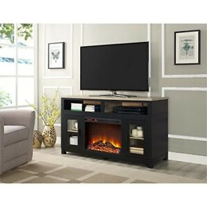 """Ameriwood Home Carver Electric Fireplace Tv Stand For Tvs With Regard To Famous Ahana Tv Stands For Tvs Up To 60"""" (View 8 of 10)"""
