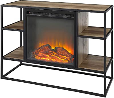 """Ameriwood Home Rhea Tv Stands For Tvs Up To 70"""" In Black Oak Inside Most Recent Amazon: Ameriwood Home Manchester Electric Fireplace (View 6 of 10)"""