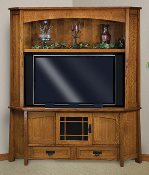 Amish Within Famous 57'' Tv Stands With Led Lights Modern Entertainment Center (View 4 of 10)