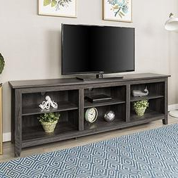 Anya Wide Tv Stands Throughout Preferred New 70 Inch Wide Television Stand In Charcoal (View 6 of 10)