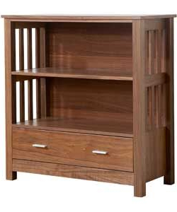 Ashford Low Bookcase – Walnut. £ (View 8 of 10)