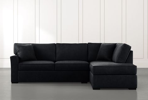 Aspen Black 2 Piece Sleeper Sectional Sofa With Left With Regard To Recent 2pc Maddox Left Arm Facing Sectional Sofas With Cuddler Brown (View 1 of 10)