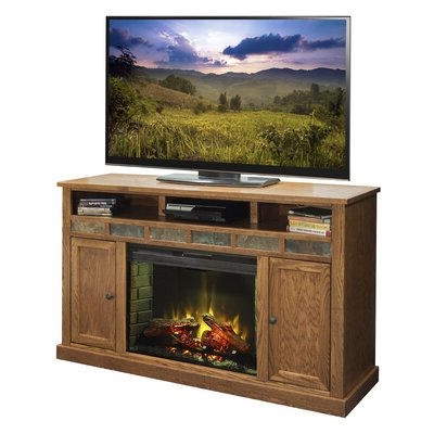 Astoria Oak Tv Stands Within Fashionable Legends Furniture Oak Creek Tv Stand With Electric (View 6 of 10)