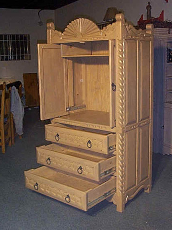 Aurora Custom Southwest Armoires, Tv Cabinets Regarding Most Current Bromley Blue Wide Tv Stands (View 4 of 10)