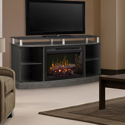 """Azalie Tv Stand For Tvs Up To 60"""" With Fireplace Included Regarding Famous Lorraine Tv Stands For Tvs Up To 60"""" With Fireplace Included (View 3 of 10)"""