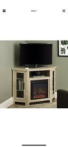 """Baba Tv Stands For Tvs Up To 55"""" Pertaining To Popular Walker Edison White Oak Corner Fireplace Tv Stand For Tvs (View 6 of 10)"""
