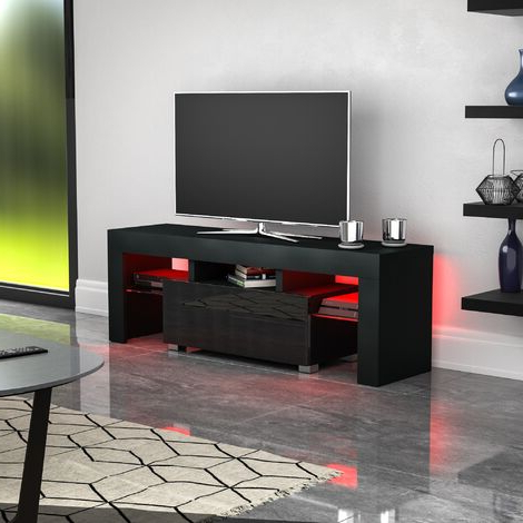 """Basie 2 Door Corner Tv Stands For Tvs Up To 55"""" Pertaining To Preferred Tv Stands (View 1 of 10)"""