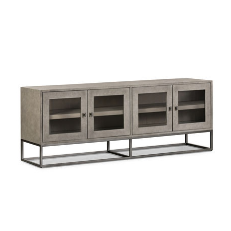 Bella Tv Stands Pertaining To Well Known Odette Media Console In  (View 4 of 10)